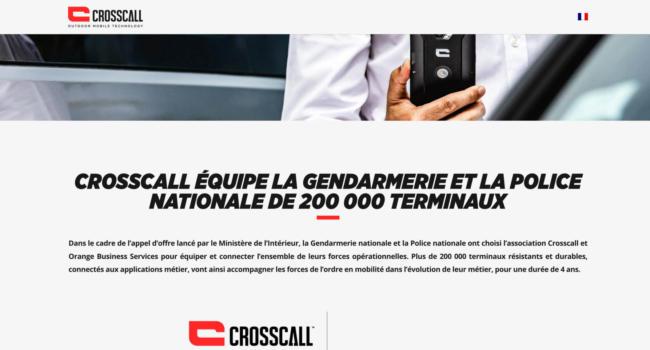 Notre partenaire Crosscall équipera désormais la Police Nationale et la Gendarmerie